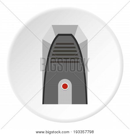 Cool and cold climate control system icon in flat circle isolated on white vector illustration for web