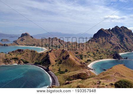 Padar Island in Indonesia, not far from Komodo Island