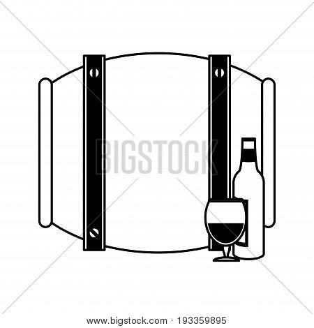 Barrel beverage dispenser paint vector illustration design graphic
