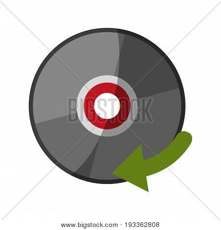 Cd player accessory shadow vector illustration design graphic