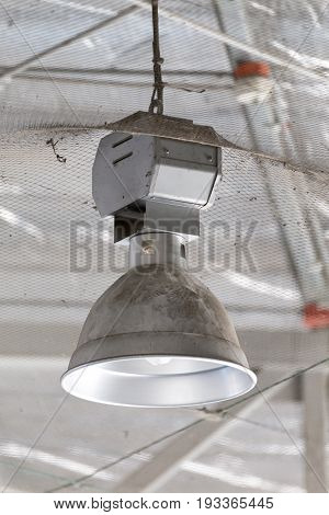 dirty industrial lamp High Bay Lighting in factory