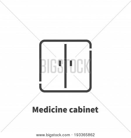 Medicine Cabinet Icon, Vector Symbol In Line Style Isolated On White Background. Editable Stroke 48X