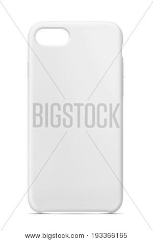 Grey phone case isolated over white background.