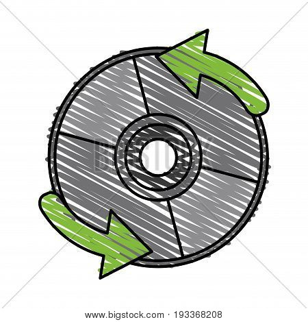 Cd player accessory doodle vector illustration design graphic