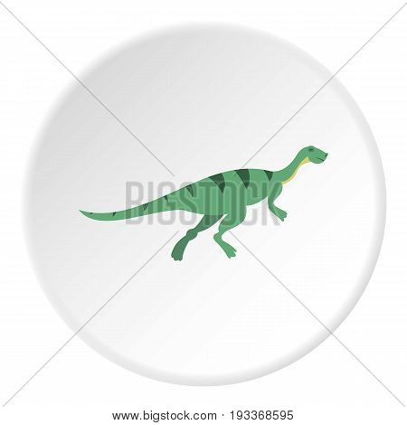 Gallimimus dinosaur icon in flat circle isolated on white background vector illustration for web