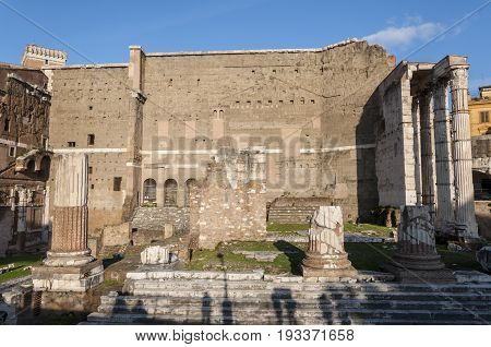 Temple of Mars Ultor, in the Forum of Augustus, Rome, Italy