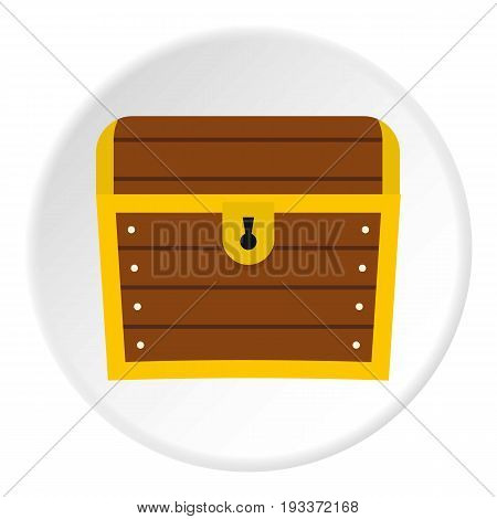 Chest icon in flat circle isolated on white background vector illustration for web