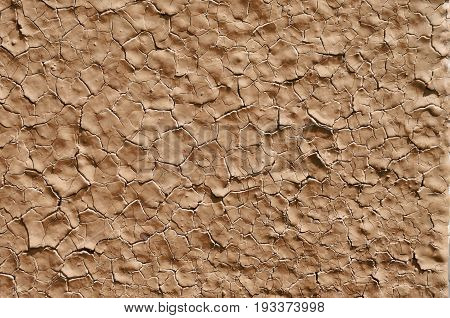 Texture of old paint on metal ochre color background big size abstraction
