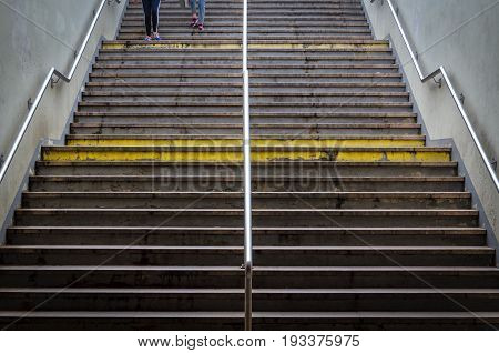 STAIRS TO UNDERGROUND - Stairs to the underground pedestrian crossing