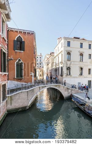 Various Views Of The Tourist City Of Venice, Italy