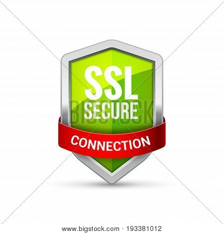 SSL Protection shield guard icon. Security ssl protect sign symbol.