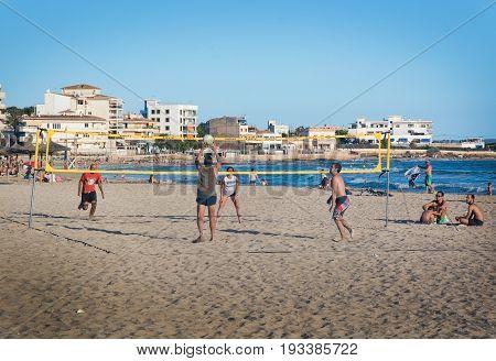 Volleyball Players At Molinar Beach