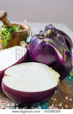 Violet Eggplant, Fresh Healthy Vegetables