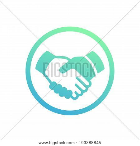 handshake, partnership, deal icon over white, eps 10 file, easy to edit