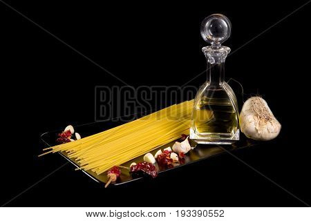 Spaghetti Garlic Oil And Chili Pepper