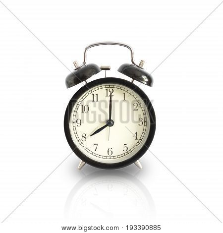 Alarm Clock Setting At 8 Am Or Pm Isolated. This Has Clipping Path.
