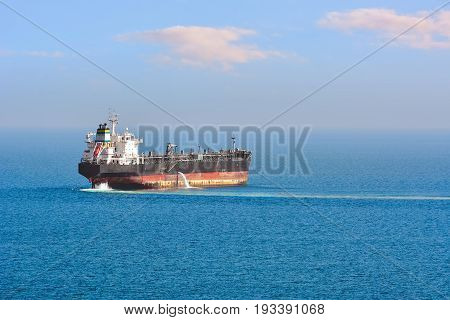 Oil/Chemical Tanker in the Black Sea near port of Varna Bulgaria