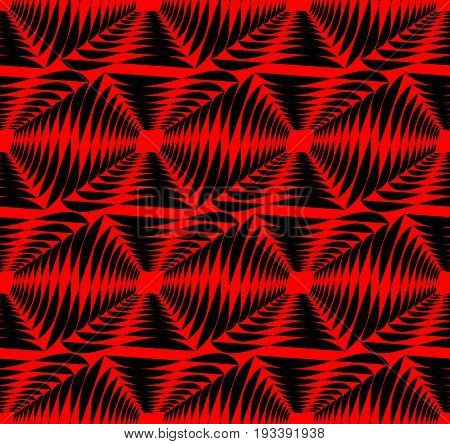 Modern strong contrasting abstract background in red and black. Seamless abstract background composed of uneven shapes.