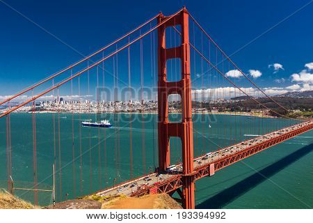 Day time shot of Golden Gate Bridge in San Francisco, California, USA