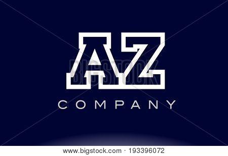 Az A Z  Alphabet Letter Logo Icon Company