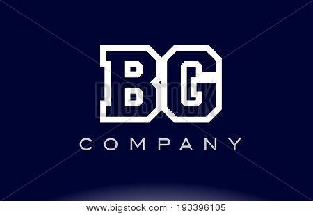 Bg B G Alphabet Letter Logo Icon Company