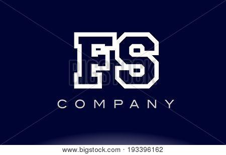 Fs F S  Alphabet Letter Logo Icon Company