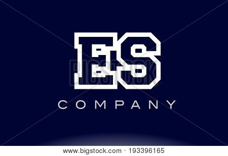 Es E S Alphabet Letter Logo Icon Company
