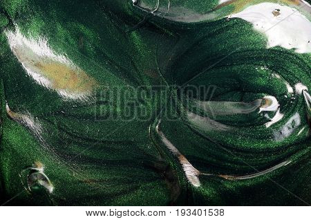 Green Slime or magic paste texture or background