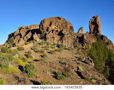Natural area of Roque Nublo, summit of Gran canaria, Canary islands