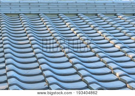 Background details of Japanese house roof tiles