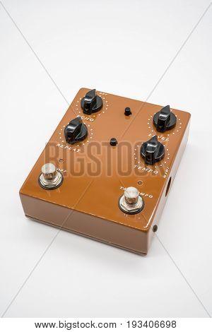 Brown Guitar Pedal