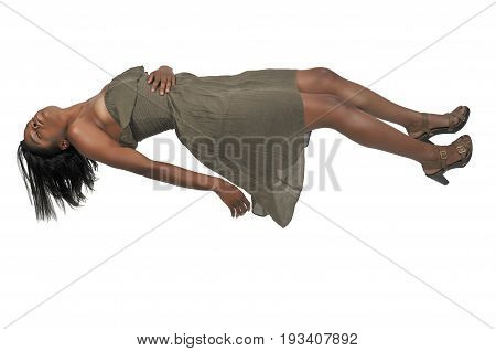 Floating Black Woman