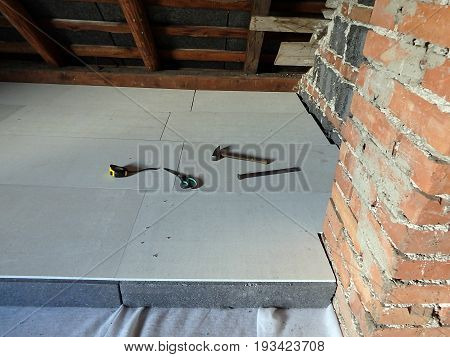 Insulation of the attic - polystyrene , Heating the attic