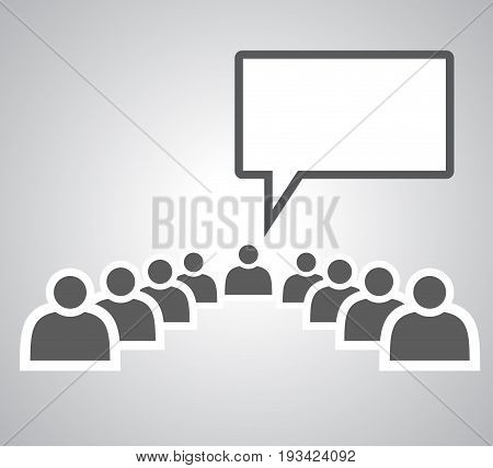 Motivation Lecture on white background . vector eps10
