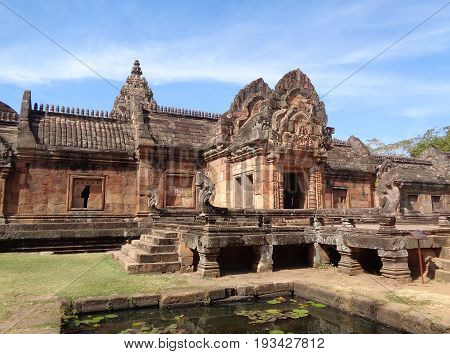 Prasat Hin Phanom Rung, Impressive Ancient Khmer Temple in Buriram Province of Thailand