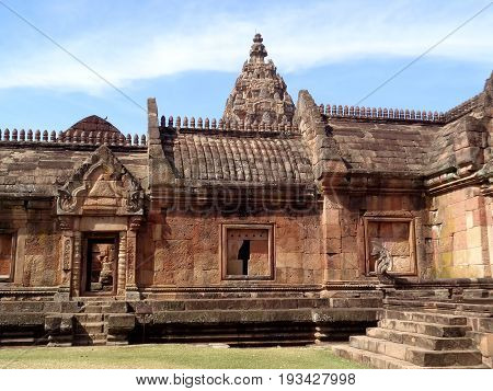 Gorgeous Ancient Khmer Temple, Prasat Hin Phanom Rung in Buriram Province of Thailand