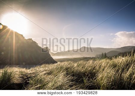 Late Afternoon Sun on a Winters Day at Piha Beach Auckland New Zealand
