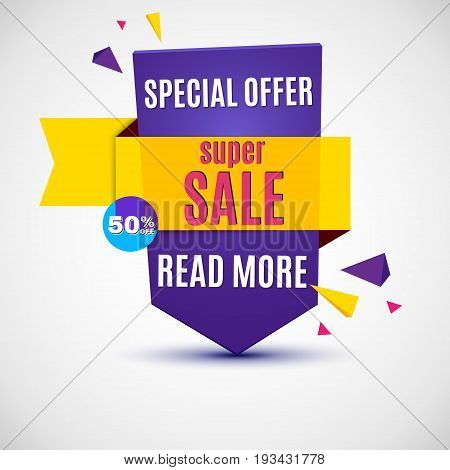 Incredible Wow Sale banner design template. Big super sale special offer, Vector illustration.