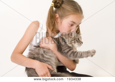 Girl With A Cat Ii