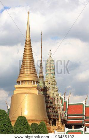 Golden Pagoda of wat phra kaew in bangkokreligious landmark of Thai people Locations in Thailand.