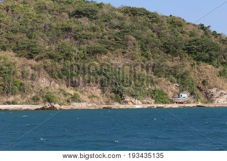 Deserted island in the sea of Tropical Area chonburi province in thailand.