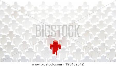 Unique person in the crowd