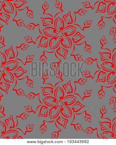 Seamless pattern in the form of a bouquet of flowers. Interlaced pattern.