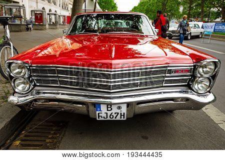 BERLIN - JUNE 17 2017: Full-size car Ford Galaxie 500 / XL 1967. Classic Days Berlin 2017.