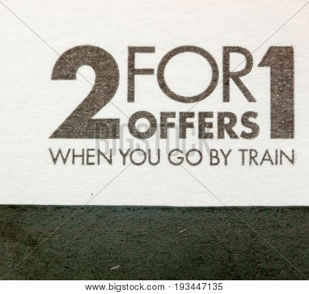 black and white bargain offer 2 for 1