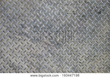 Abstract image of steel floor grate texture.