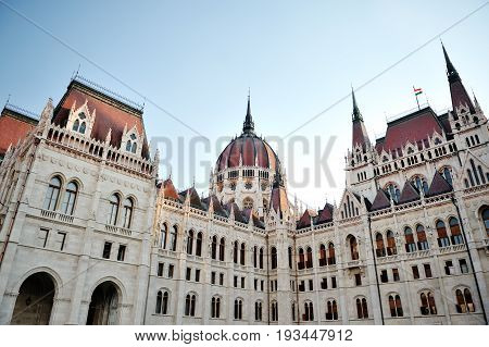 Budapest Hungary Europe - historic building in the city center