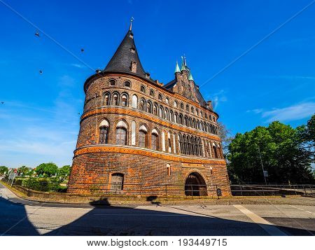 Holstentor (holsten Gate) In Luebeck Hdr