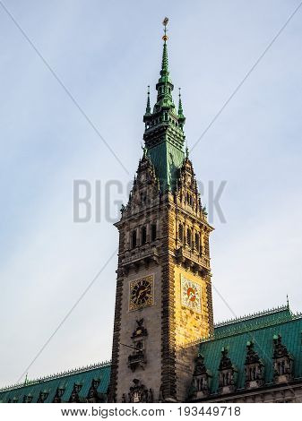 Hamburg Rathaus City Hall Hdr
