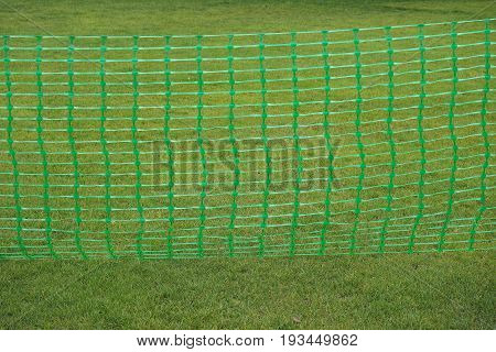 Green Plastic Temporary Fence